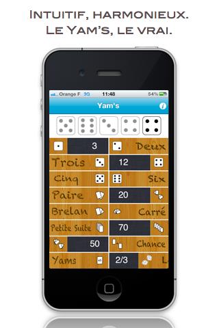 Screenshot Yam's ! (Five Dice)